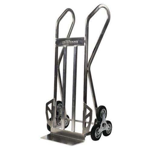 Transportador em alumínio para escadas com 3 rodas em estrela – capacidade de 150kg