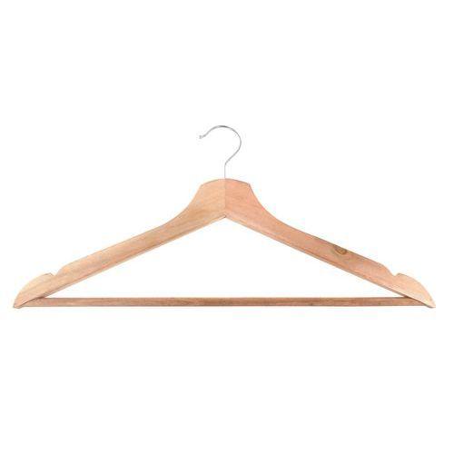 Cabide com suporte para calças em madeira natural – conjunto de 5 – Vepabins