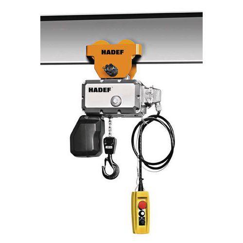 Diferencial elétrico com corrente e carro de mão – capacidade de 125kg