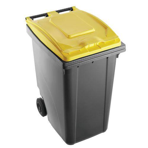 Caixote de lixo bicolor – 360L – Mobil Plastic