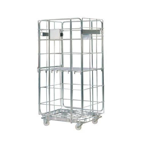 Contentor móvel – base em aço – capacidade de 500kg
