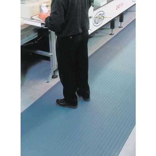 Tapete antifadiga ergonómico – Superfície estriada – Por metro linear – Manutan