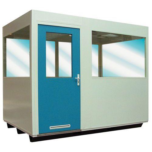 Vidro duplo + isolamento teto para cabinas de parede dupla em chapa de aço ou chapa de aço melaminado para mon