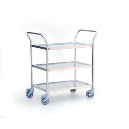 Carro em inox - 3 plataformas - Capacidade de 120 kg