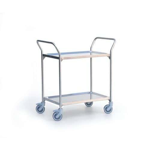 Carro inox - 2 plataformas - Capacidade de 120 kg