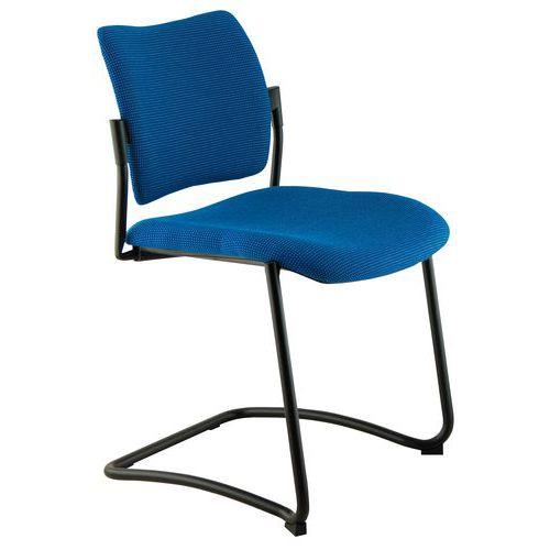 Cadeira para visitas Amets - Tecido - Base trenó - Sokoa