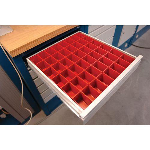 Kit de compartimentação para gaveta - Plástico - 48 caixas