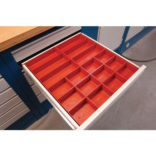 Kit de compartimentação para gaveta - Plástico - 24 caixas