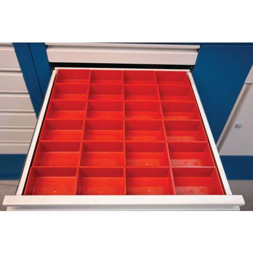 Kit de compartimentação para gaveta - Plástico - 12 caixas