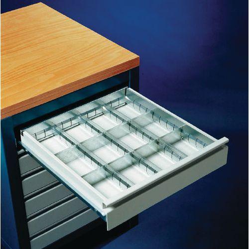 Kit de compartimentação para gaveta - Aço - 12 compartimentos