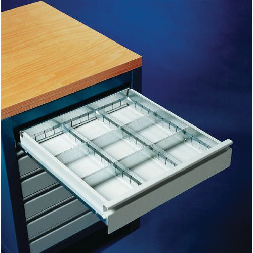 Kit de compartimentação para gaveta - Aço - 9 compartimentos