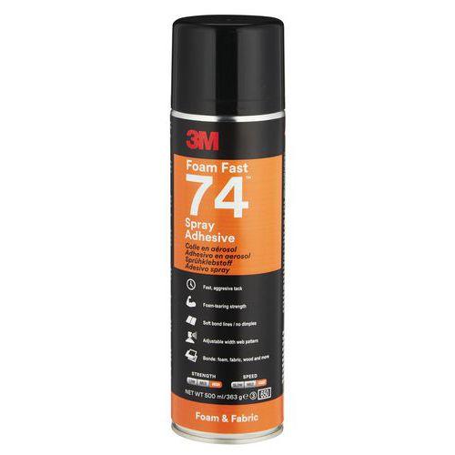 Cola aerossol especial para espumas flexíveis – Scotch-Weld™ 74 – 3M™