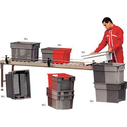 Caixa empilhável envio e retorno - Comprimento 600 mm - 32 a 70 L