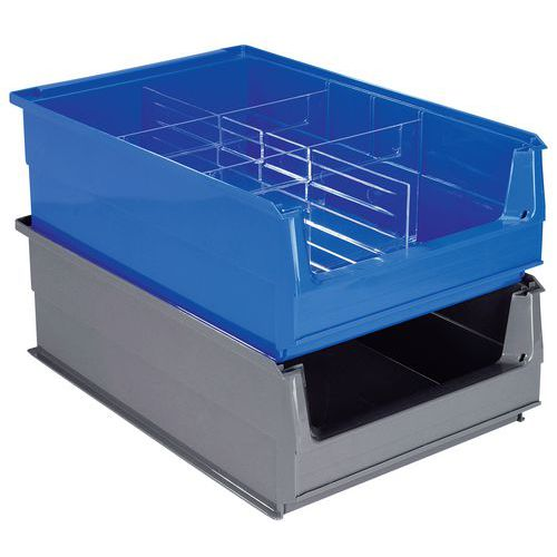 Caixa de bico compartimentação múltipla - Comprimento 500 mm - 21 L