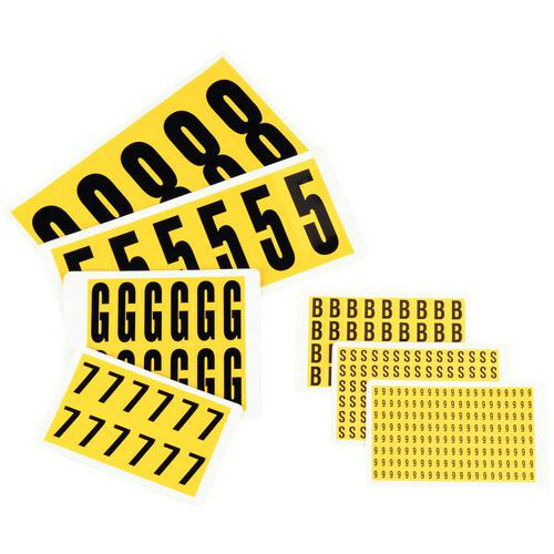Etiquetas – números autocolantes – Manutan