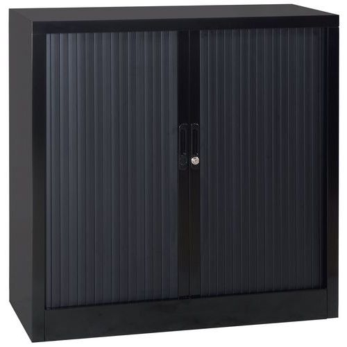 Armário baixo com portas de persiana em kit - Largura 120 cm