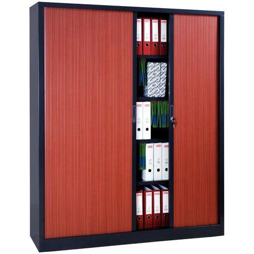 Armário extra largo com portas de persiana em kit - Largura 180 cm