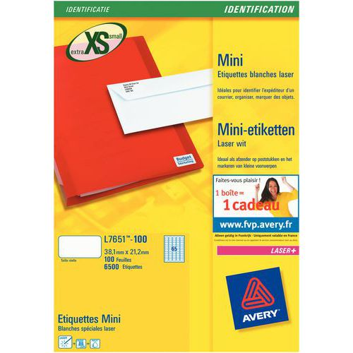 Minietiqueta Avery – Impressão a laser