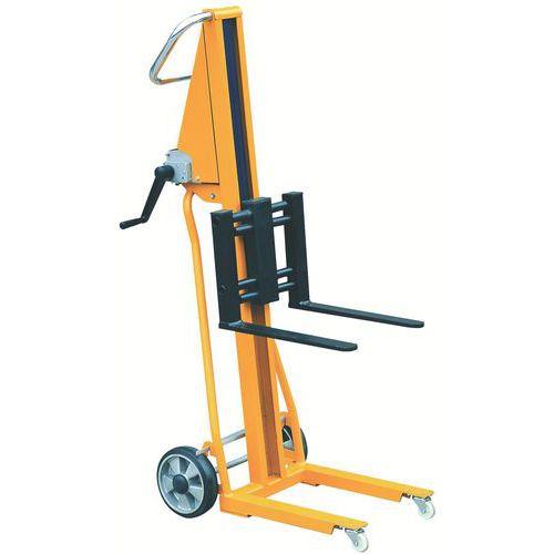 Empilhador mini manual - Capacidade: 120 kg