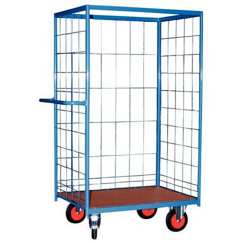 Móvel de apoio madeira - 3 painéis gradeadas - Capacidade 500 kg