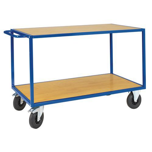 Carro de plataformas madeira - 2 plataformas - Capacidade 500 kg