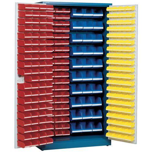 Armário com 273 caixas de bico - Alto - Com portas compostas