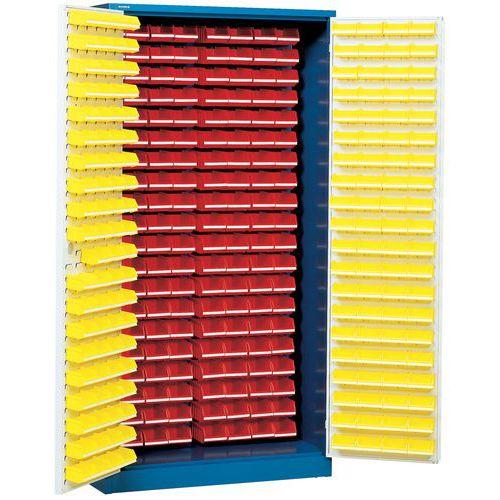 Armário com 320 caixas de bico - Alto - Com portas compostas