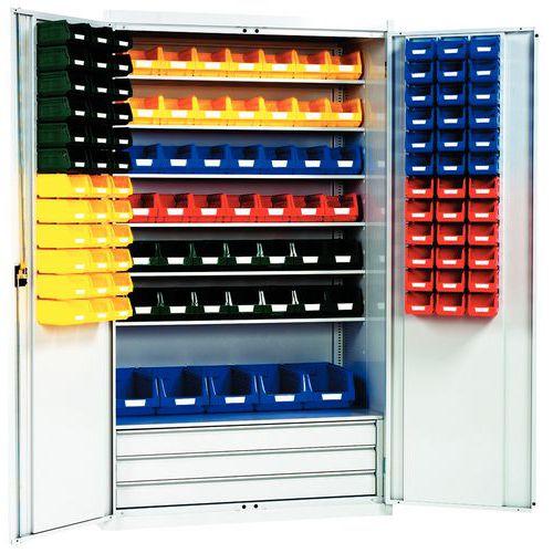 Armário reforçado com caixas de bico Kangourou - Alto - Portas compostas