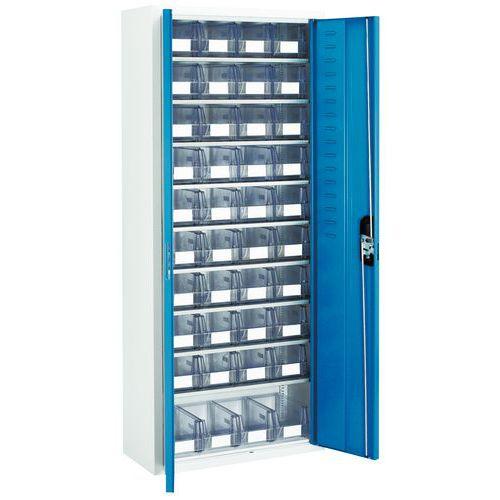 Armário com caixas de bico transparentes - Médio - Com portas