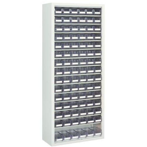 Armário com caixas de bico transparentes - Médio - Sem portas