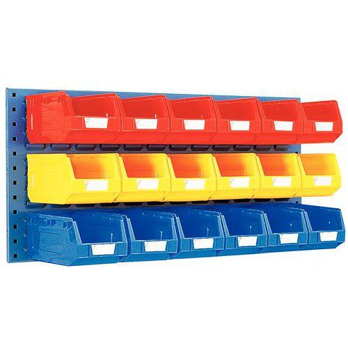 Painel de parede equipado com caixas de bico Kangourou