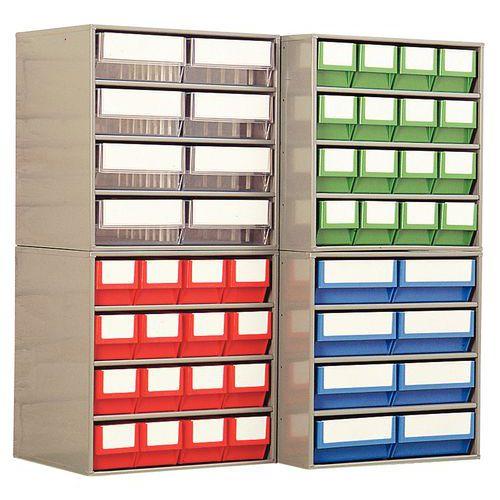 Bloco com caixas-gavetas - Profundidade 300 mm