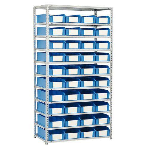 Estante com caixas-gavetas - Profundidade 500 mm