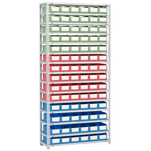 Estante com caixas-gavetas - Profundidade 300 mm