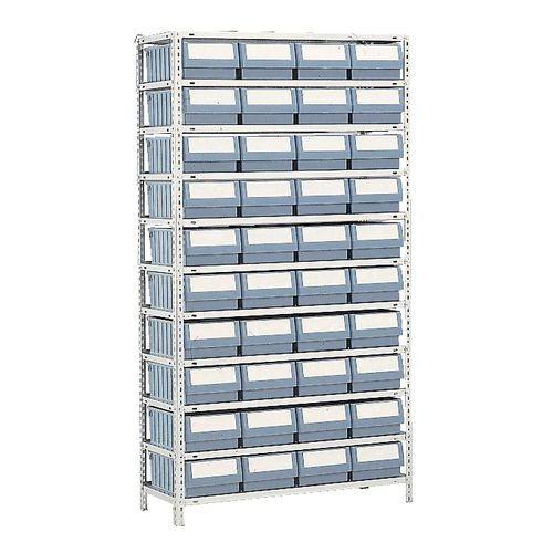 Estante com caixas-gavetas série RK - Profundidade 300 mm
