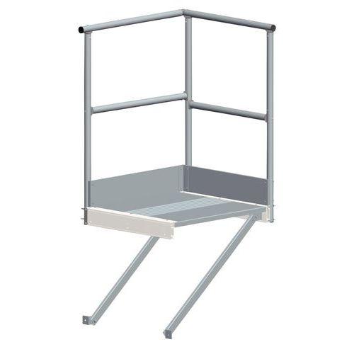 Patamar de saída para escada com guarda-corpo – Tubesca
