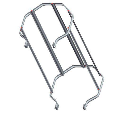 Guarda-corpo standard para escada com guarda-corpo