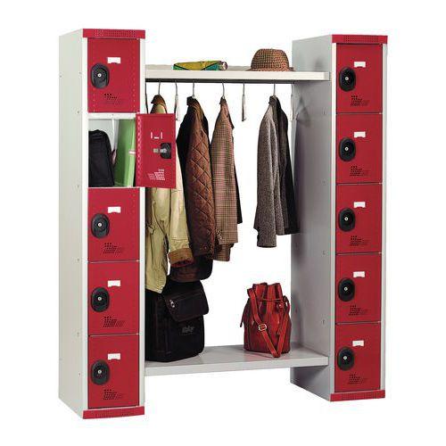 Cacifos com 10 compartimentos e guarda-roupa Seamline® – largura do guarda-roupa: 960mm – Acial