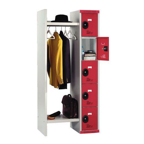 Cacifos com 5 compartimentos e guarda-roupa Seamline® – largura do guarda-roupa: 520mm – Acial