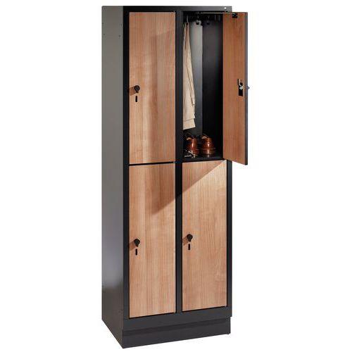 Cacifo de madeira com 4 a 8 compartimentos Évolo II - 2 a 4 colunas de 400 mm de largura
