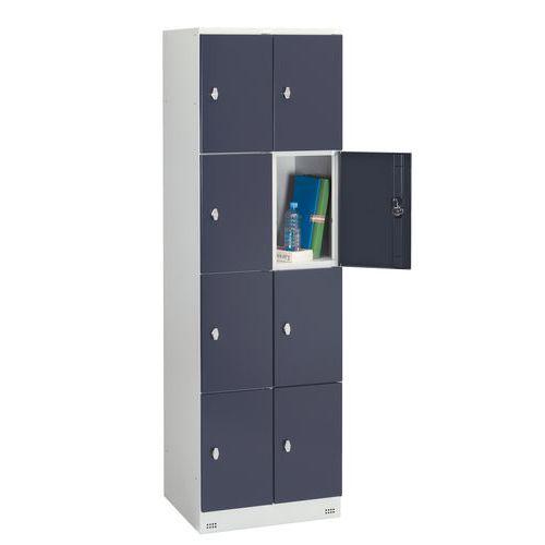 Cacifo com 8 compartimentos Collectivité - 2 colunas de 300 mm de largura - Com base