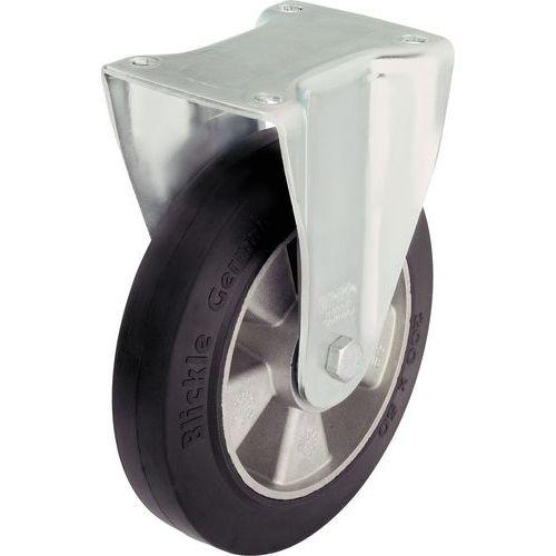 Rodízio fixo com placa - Capacidade de carga de 180 a 550kg - Grande durabilidade