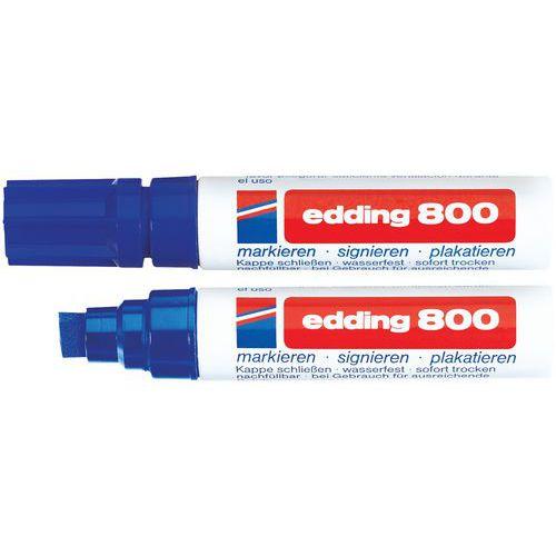 Marcador permanente Edding 800 – Ponta biselada