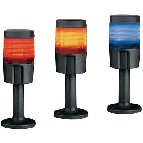 Coluna luminosa com LED multicolores – vermelho, laranja e azul