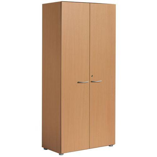 Armário com portas rebatíveis - Faia - Manutan