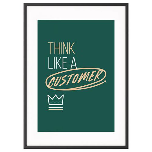 Quadro de Team Building A4 – Think like a customer – Paperflow
