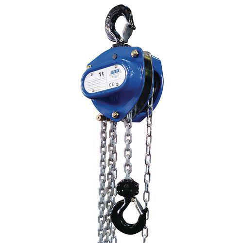 Diferencial manual com corrente – capacidade de 250kg a 5000kg – EXO
