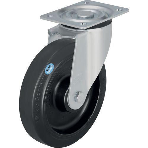 Roda giratória com base - Força de 200 a 400 kg