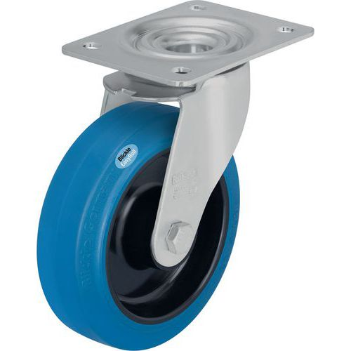 Rodízio giratório com placa - Capacidade de 150 a 300 kg