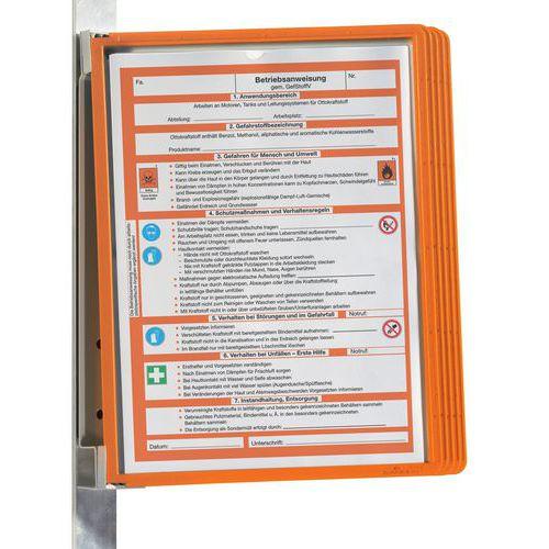 Suporte de parede magnético Vario® para 5 bolsas A4 – Durable
